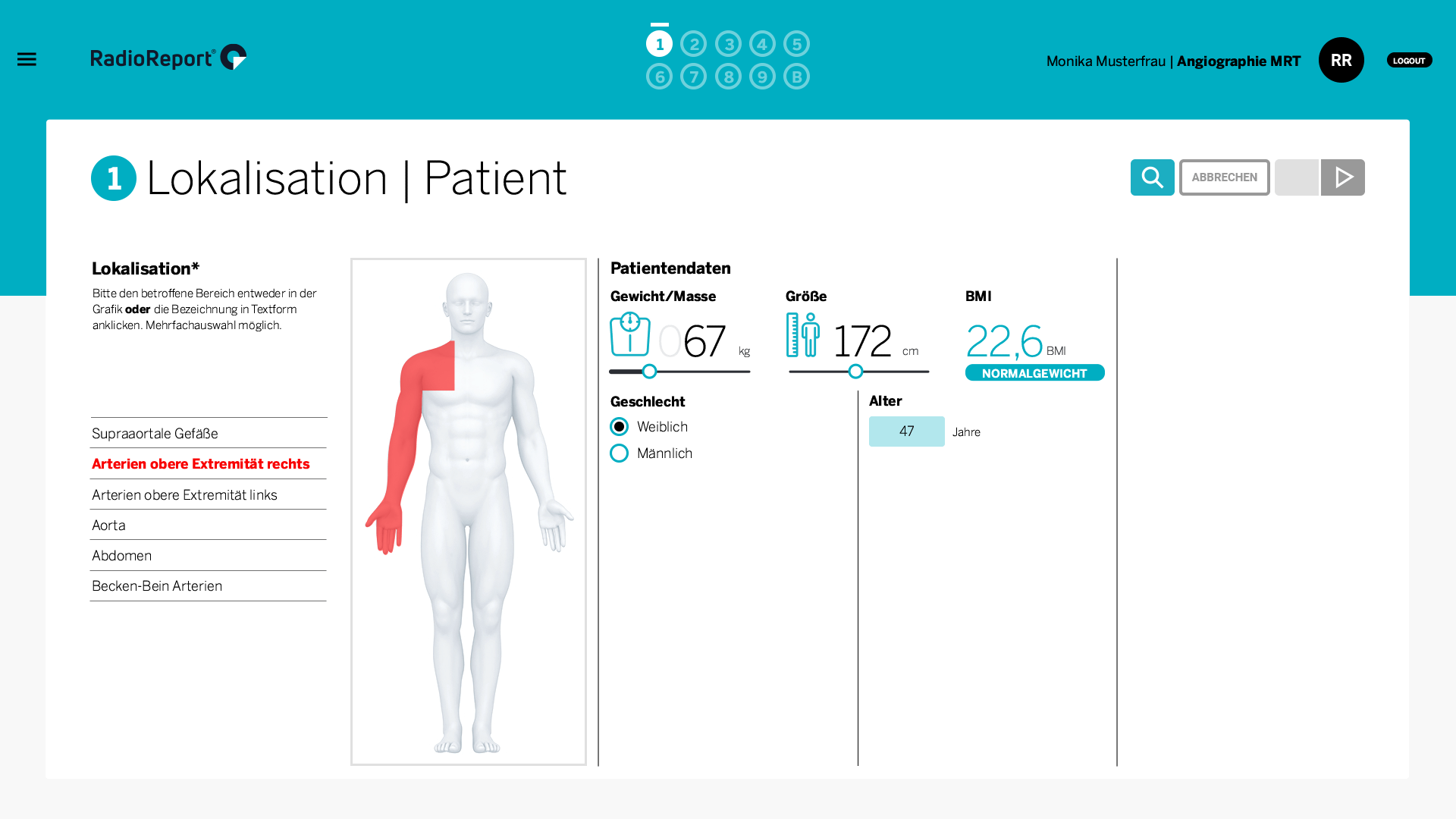 RadioReport Angiographie MRT
